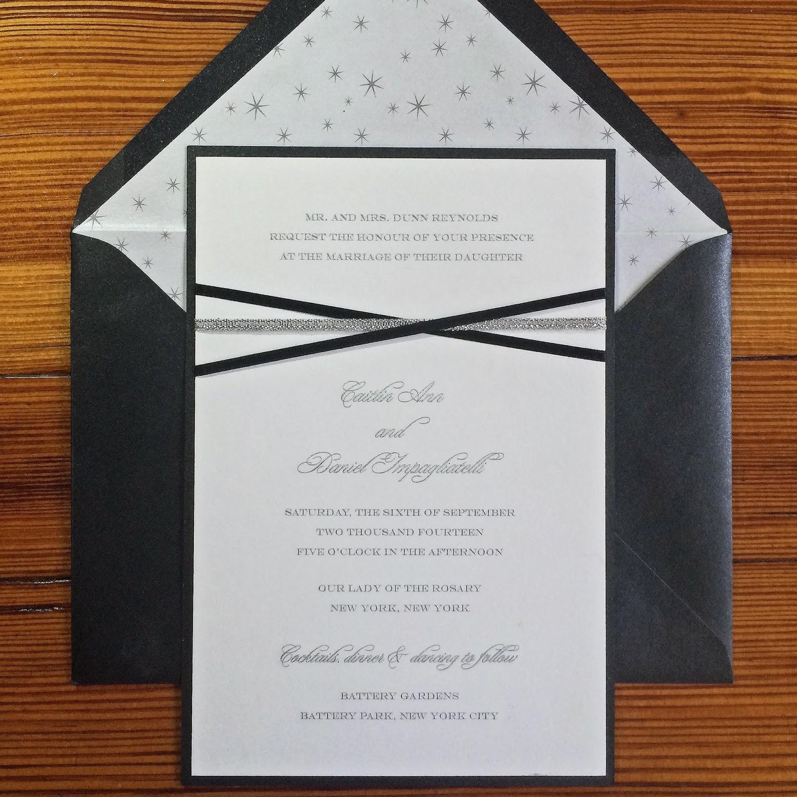 Invitations, Ink, Social Design Studio: Caitlin and Dan\'s Formal ...