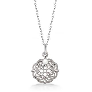 W.KRUK srebrny naszyjnik orientalny z perłą święta 2015 propozycje prezentów