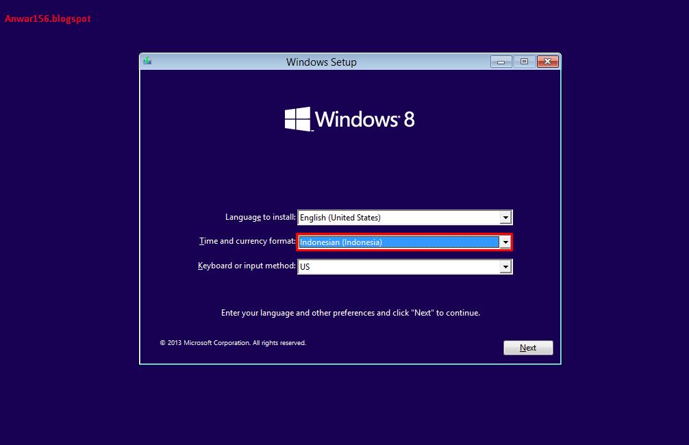 cara instal windows 8   anwar156