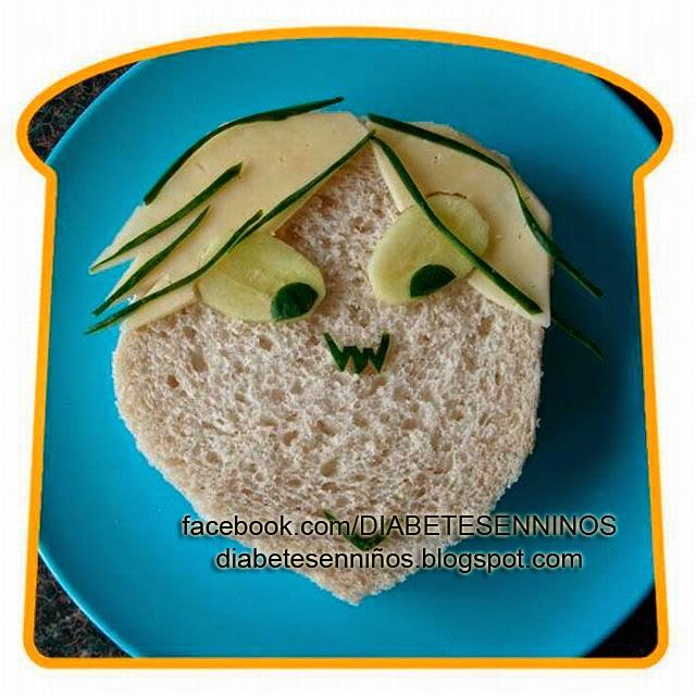 Sándwich en forma de carita