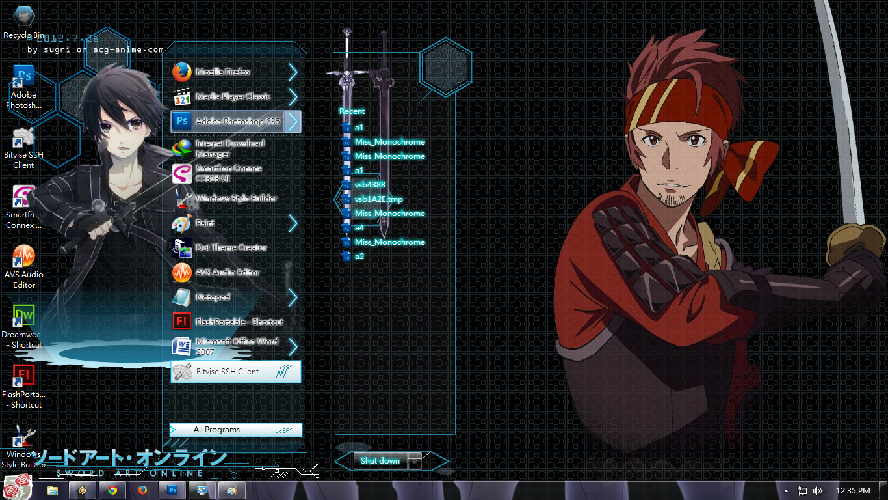 Sword Art Online [ Theme Win 7 ] 2