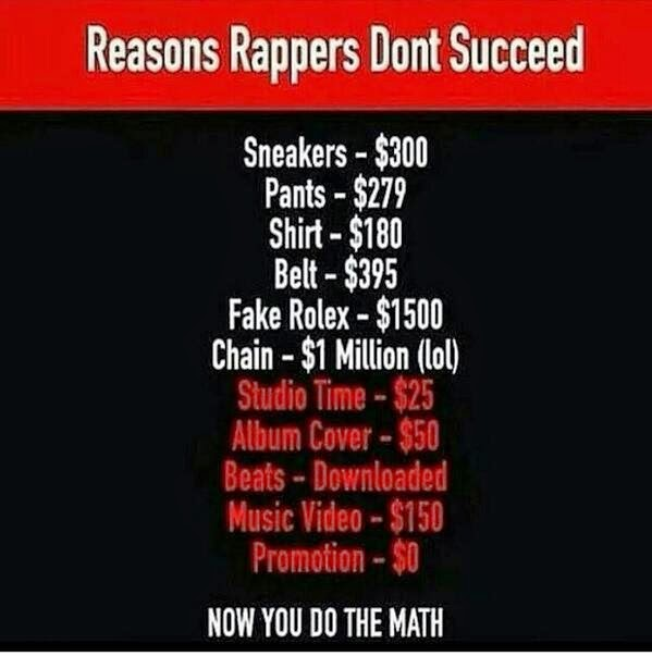 Reasons Rappers don't Succeed - what is hip hop