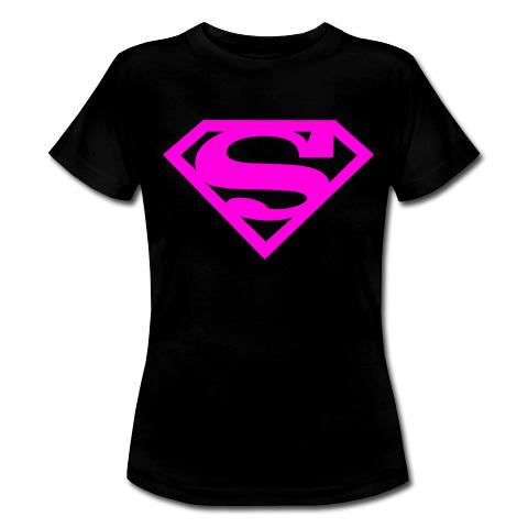 Superman logo różowe