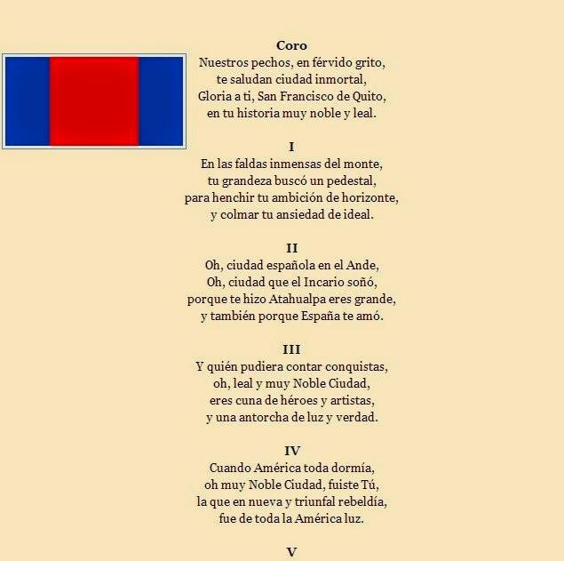 """Karolina Torales 1ro """"C"""": himno a quito"""