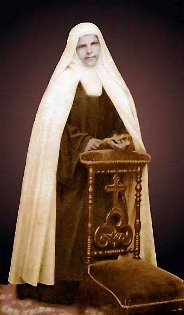 Beata Maria de Jesus Crucificado O.C.D., Mariam Baouardy no século (1846-1878). Na foto: noviça no Carmelo de Pau, França.