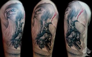 Tatuaż patriotyczny - husarz