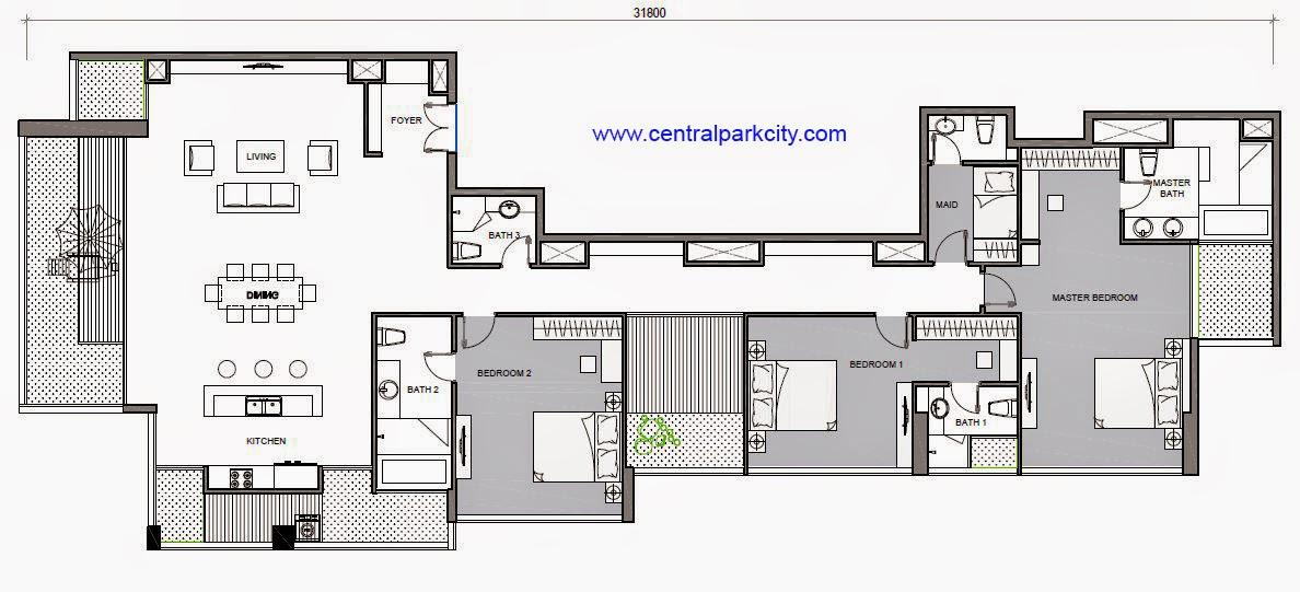 Penthouse Vinhomes Central Park - Căn Penthouse Vinhomes số 03 tầng 36 - 3PN - 277.5m2