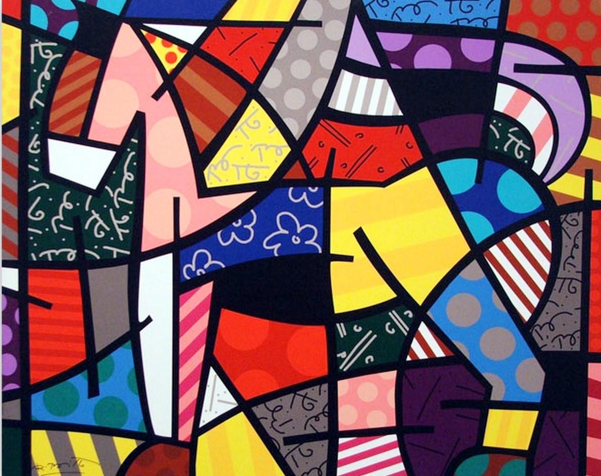 Arte Moderno Pintor Romero Brito Cuadros Modernos De Romero Brito