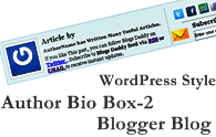 Add WordPress Style Author Bio Box-2 In Blogger Blog