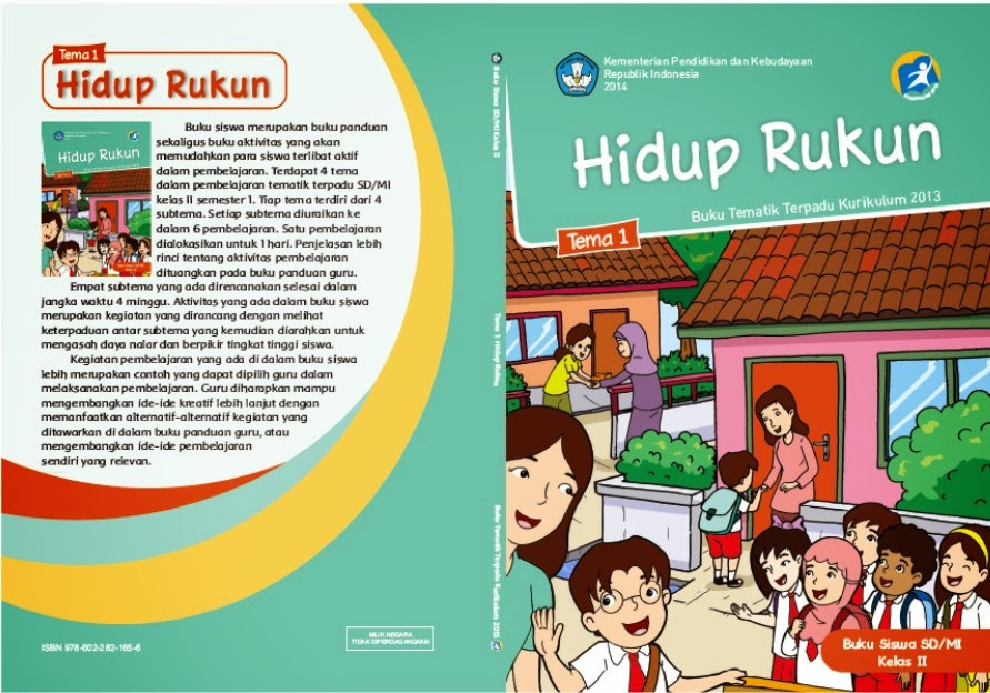 link download buku cover 2 tematik kelas 2 tema 2