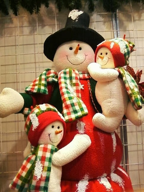 Bonecos de neve com moldes