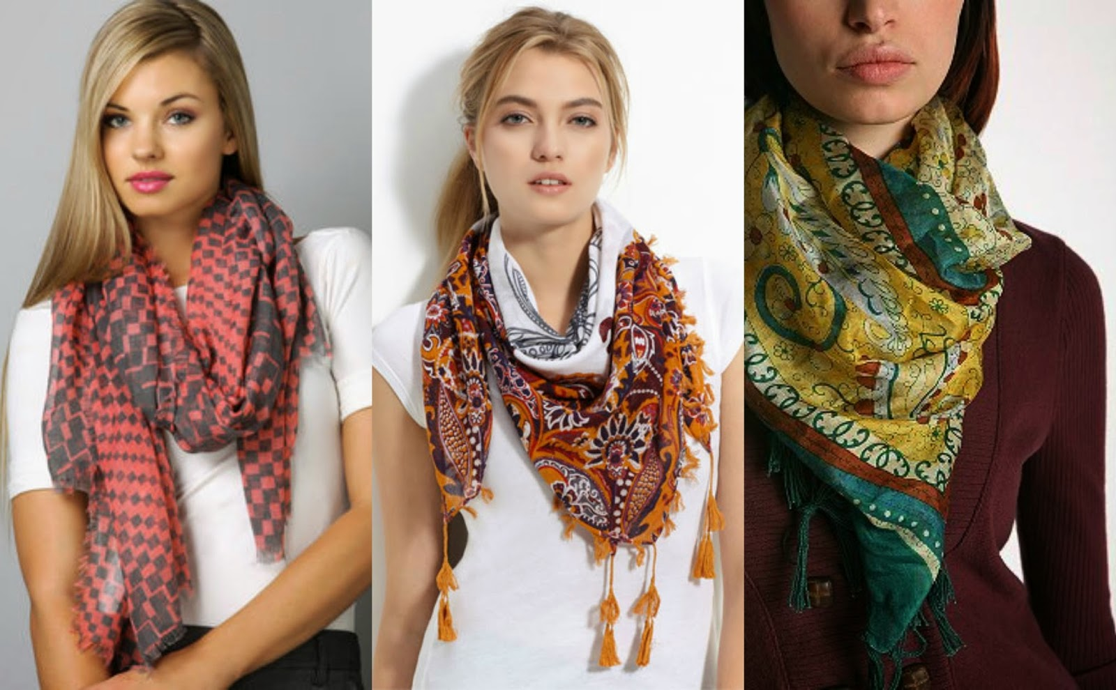 Ladies Scarf Different Styles Different Looks Beauty And Trends