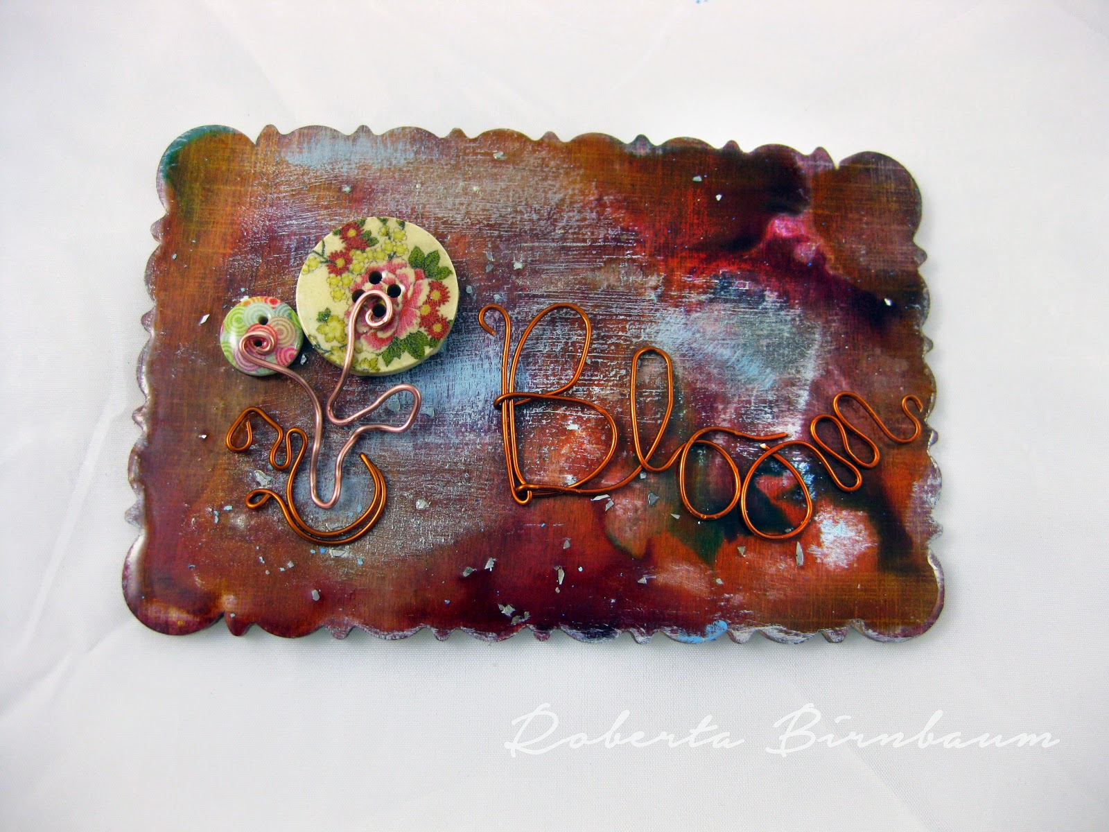 Bloom resin plaque