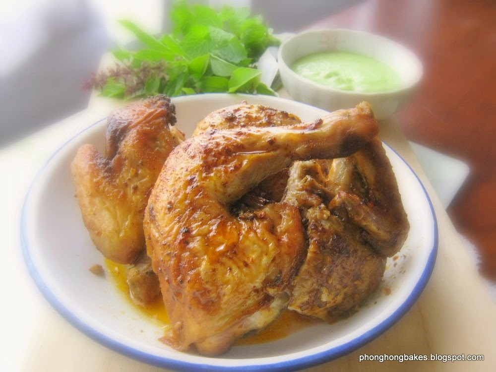 ... Bakes and Cooks!: Peruvian Roast Chicken with Aji Verde Chili Sauce