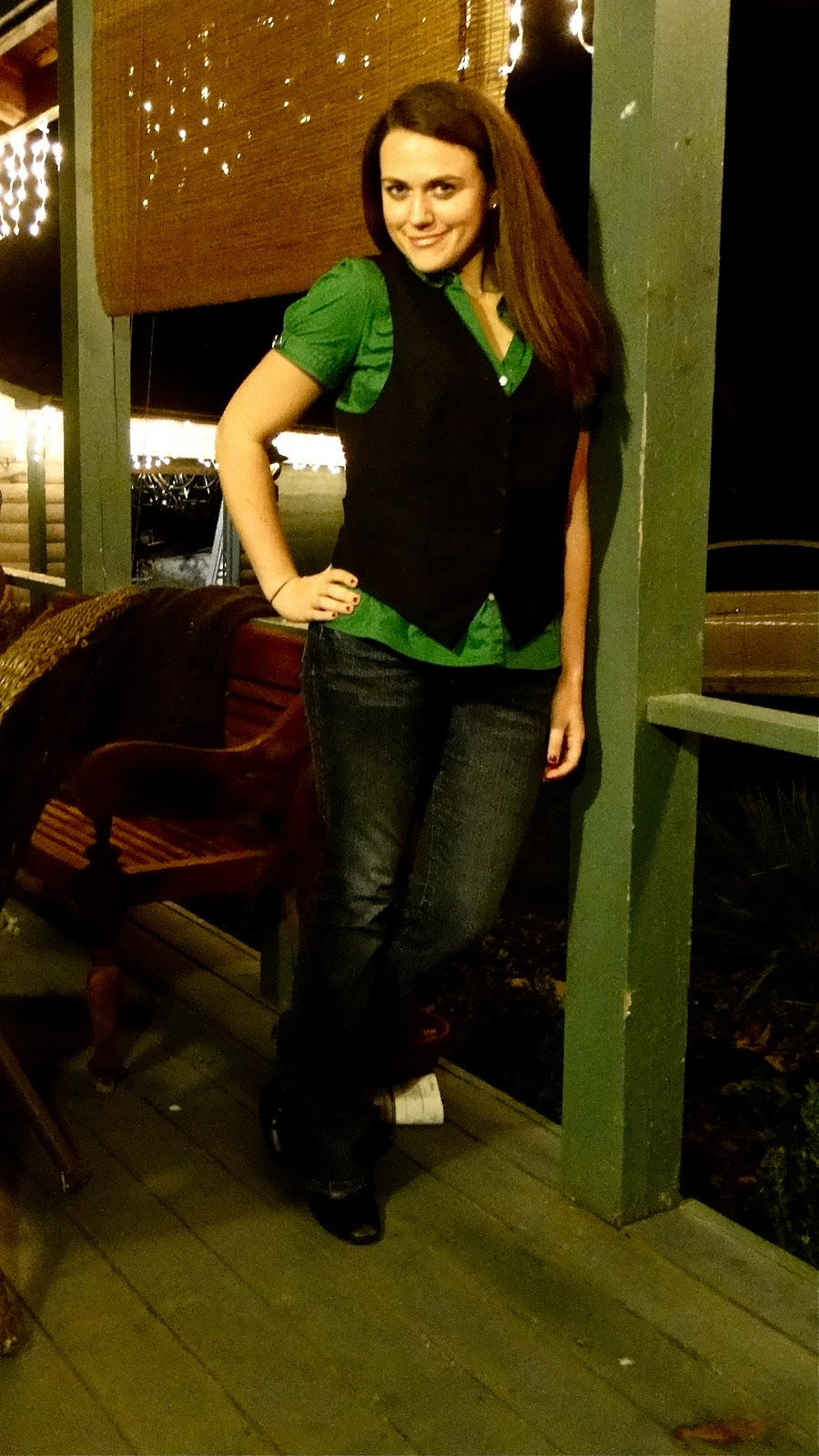 fashion styles carrington the professional trend for women as you can see i had a cute green blouse jeans and boots that i added a nice black vest i thought i d add more of a professional look