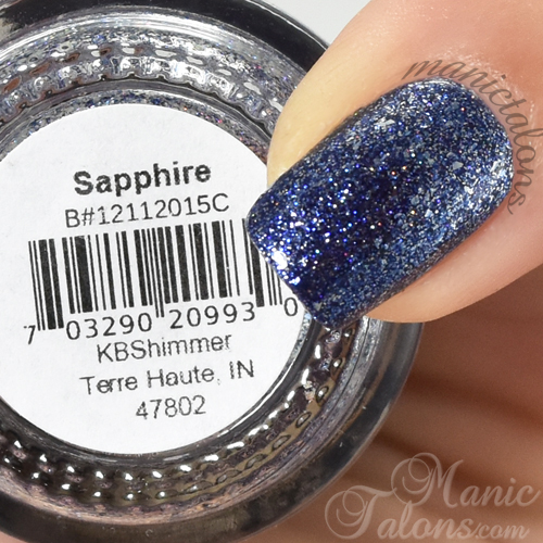 KBShimmer Sapphire Swatch