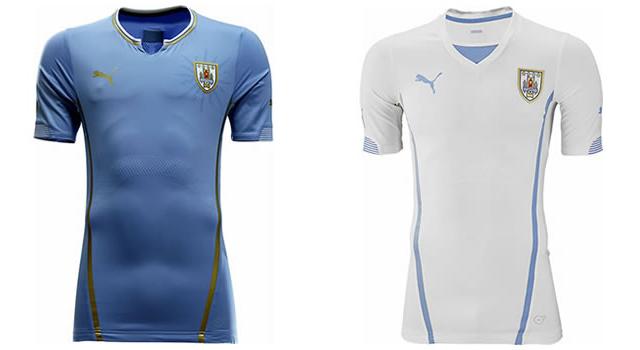 Camisetas selección Uruguay Mundial 2014