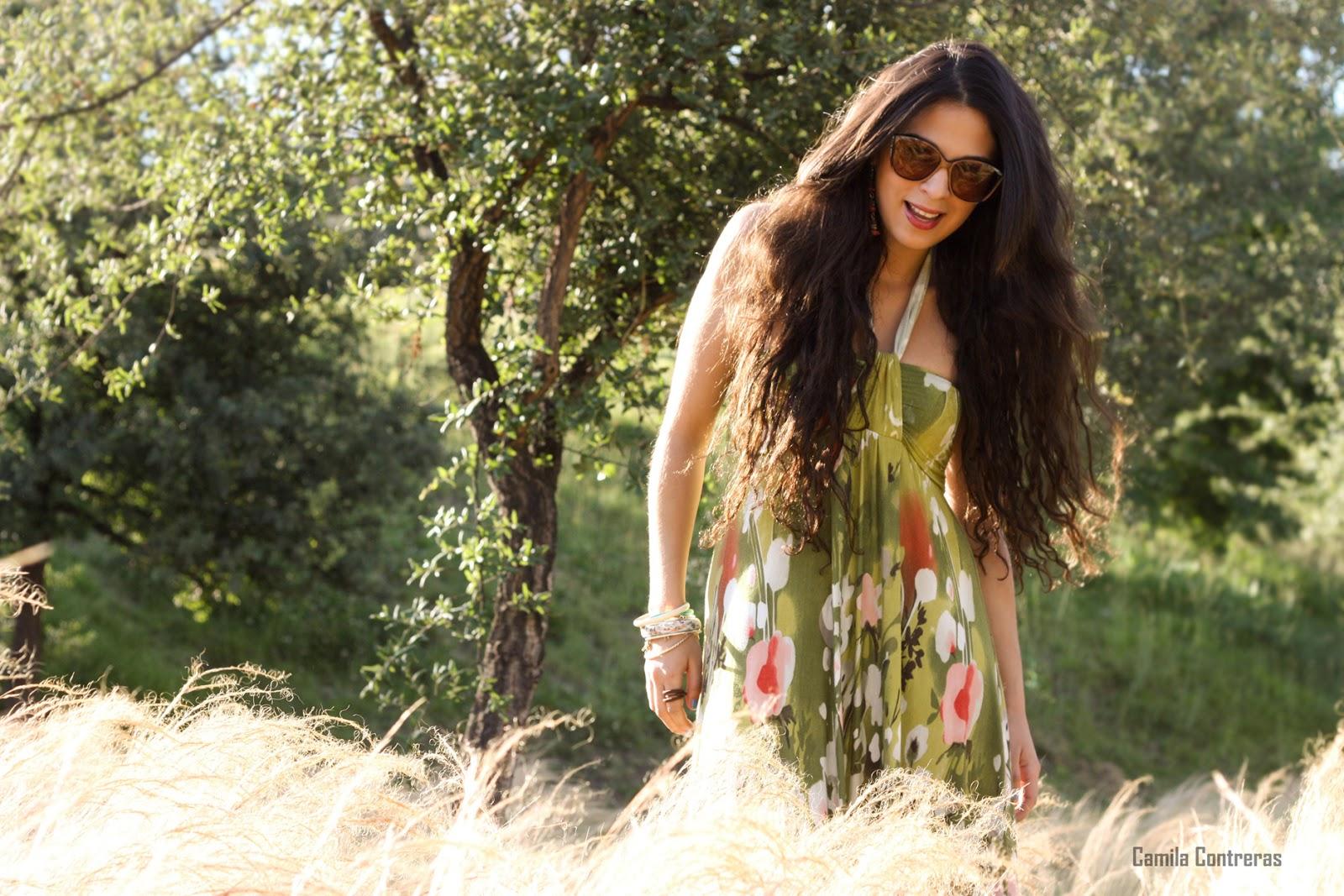 Pamela Victoria - Look maxi dress - cabello largo - cuidado cabello