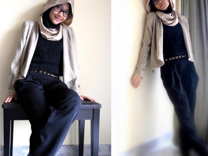 Pintar Pakai Jilbab Baju Muslim Trendy Dengan Celana