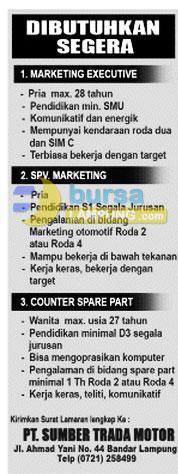 Bursa Kerja PT. Sumber Trada Motor