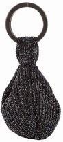 Ricky designs beaded acrylic clutch, black beaded clutch bag, women's clutch purse, rhonestone black beaded purse, holiday black bead handbag