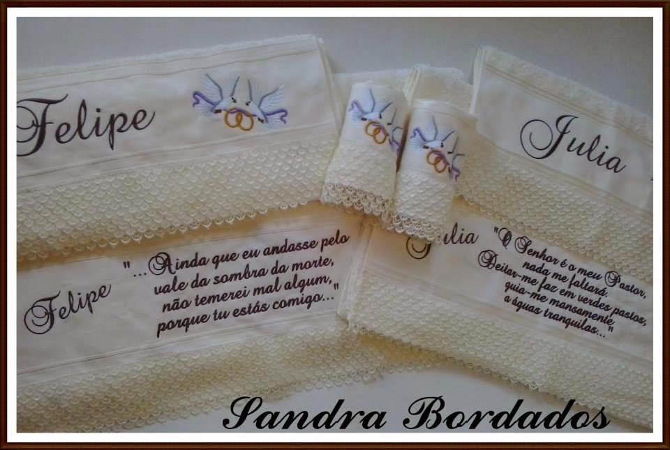 37e6a5a448 Sandra Lúcia Bordados  JOGO DE TOALHAS DE CASAL