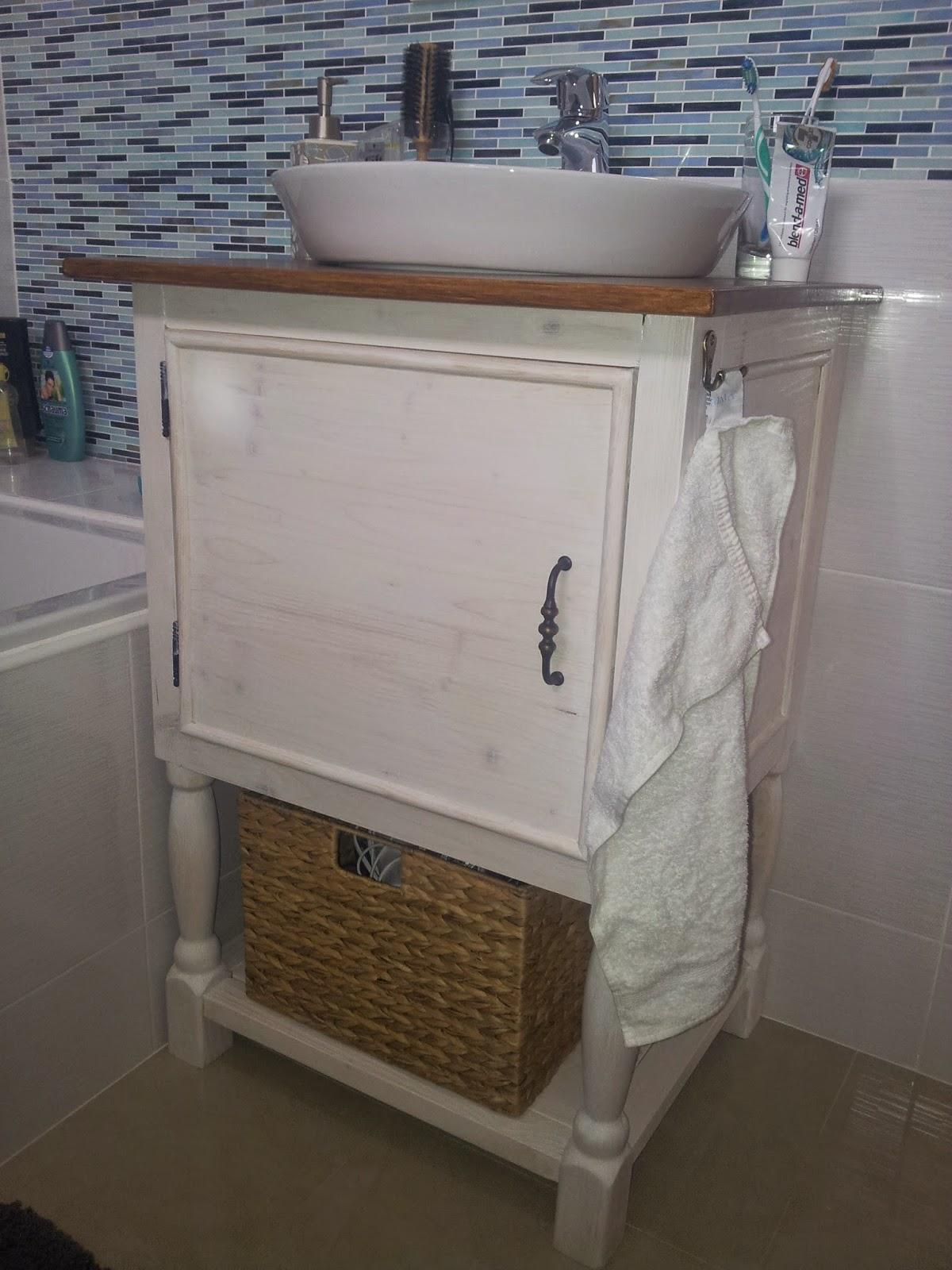Yet another Pottery Barn inspired bathroom vanity and Bathroom