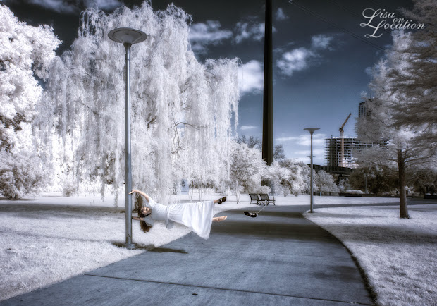 infrared, Canon 50D, levitation, swept away, falling, willow, Lisa On Location Photography, New Braunfels, San Antonio, San Marcos, Austin