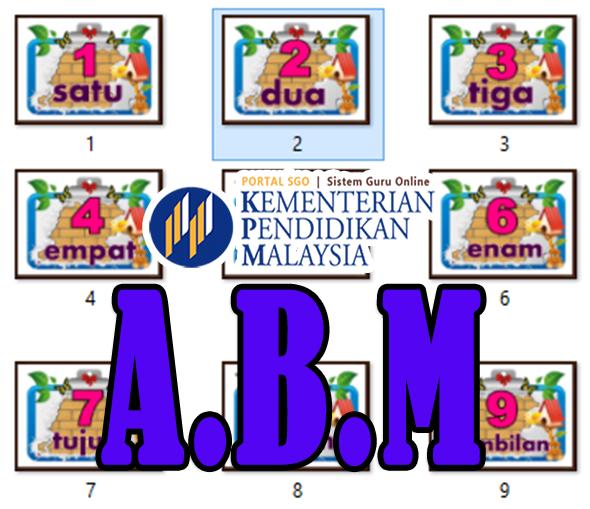 Pedagogi KSSR | ABM Matematik Kad Nombor 1 Hingga Nombor 10