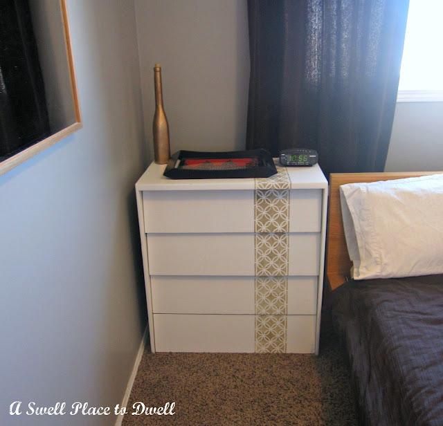 Custom Stencilled Dresser