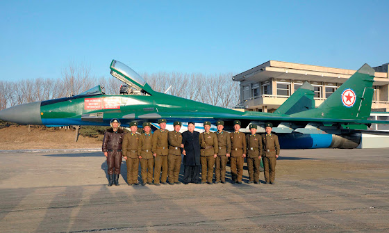 North Korea's two-tone MiG-29 fighter jet