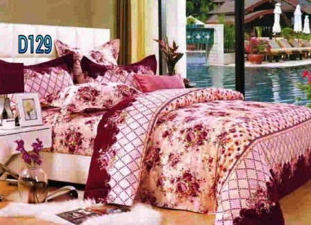 english rose maroon - sprei - handmade - murah