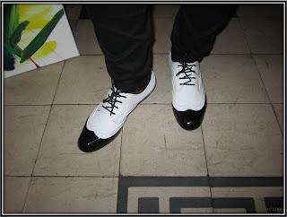 Look Janelle Monae derbies Black and White, concert Janelle Monae Trianon Paris