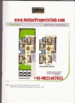LAYOUT PLAN 3BHK OMAXE SILVER BIRCH APARTMENTS