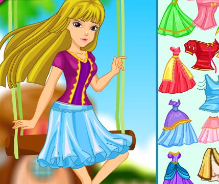 Công chúa tóc dài, game ban gai