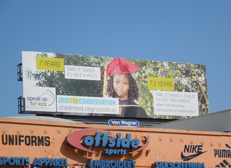 Speak up for Kids PHD billboard