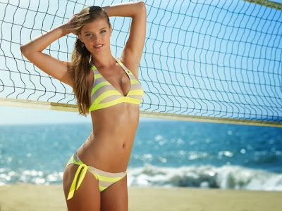 Nina Agdal Banana Moon Bikini Photoshoot