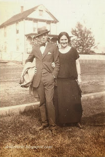 "Violetta Davis and ""C.M."" 1924"
