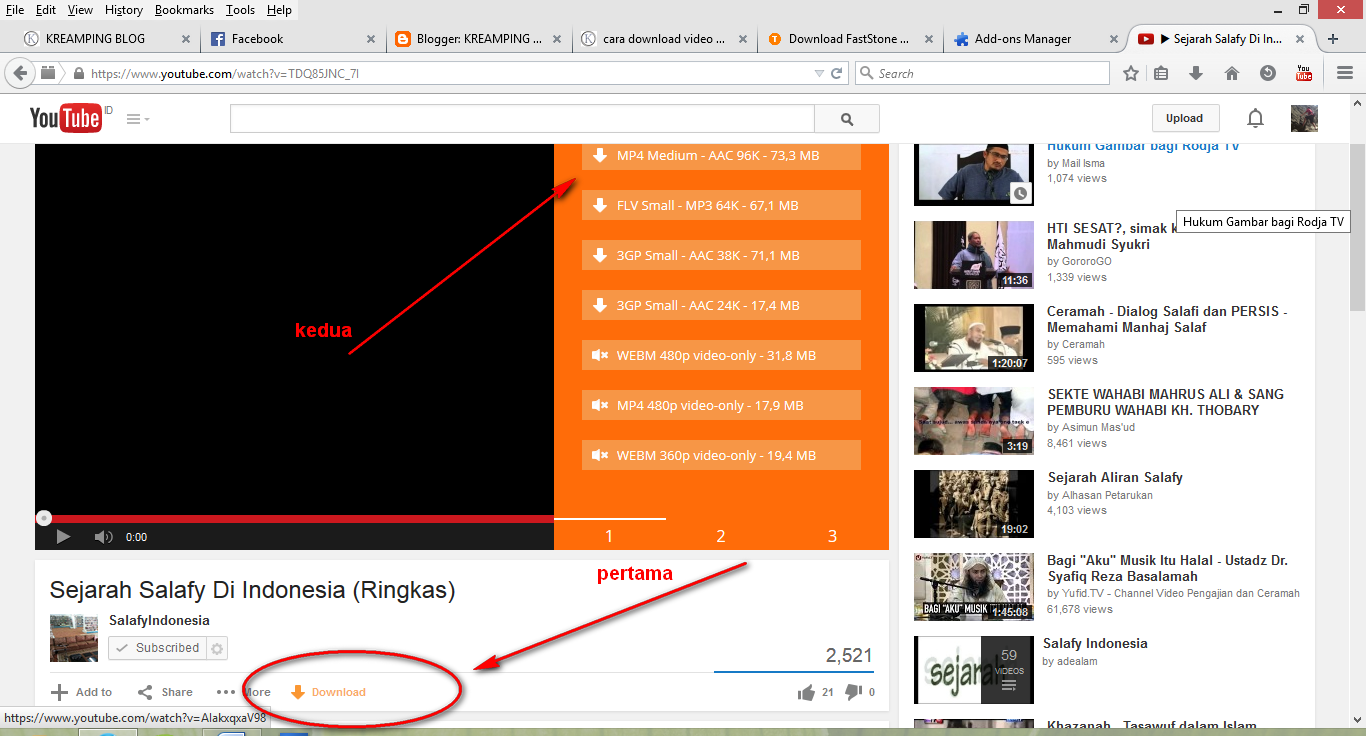 cara download video youtube di mozila firefox