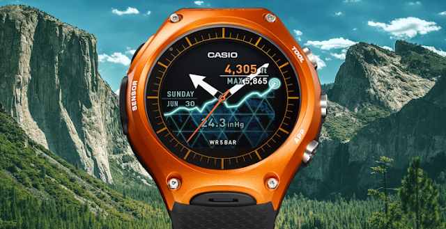 Casio Released First Android Smart Watch with Up To A Month Of Battery Life : Know Full Specs, Features & Price
