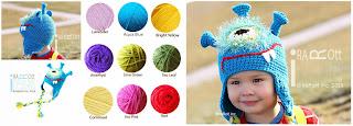 Handmade Crochet Plutonian Paul Alien Halloween Monster Hat for all ages