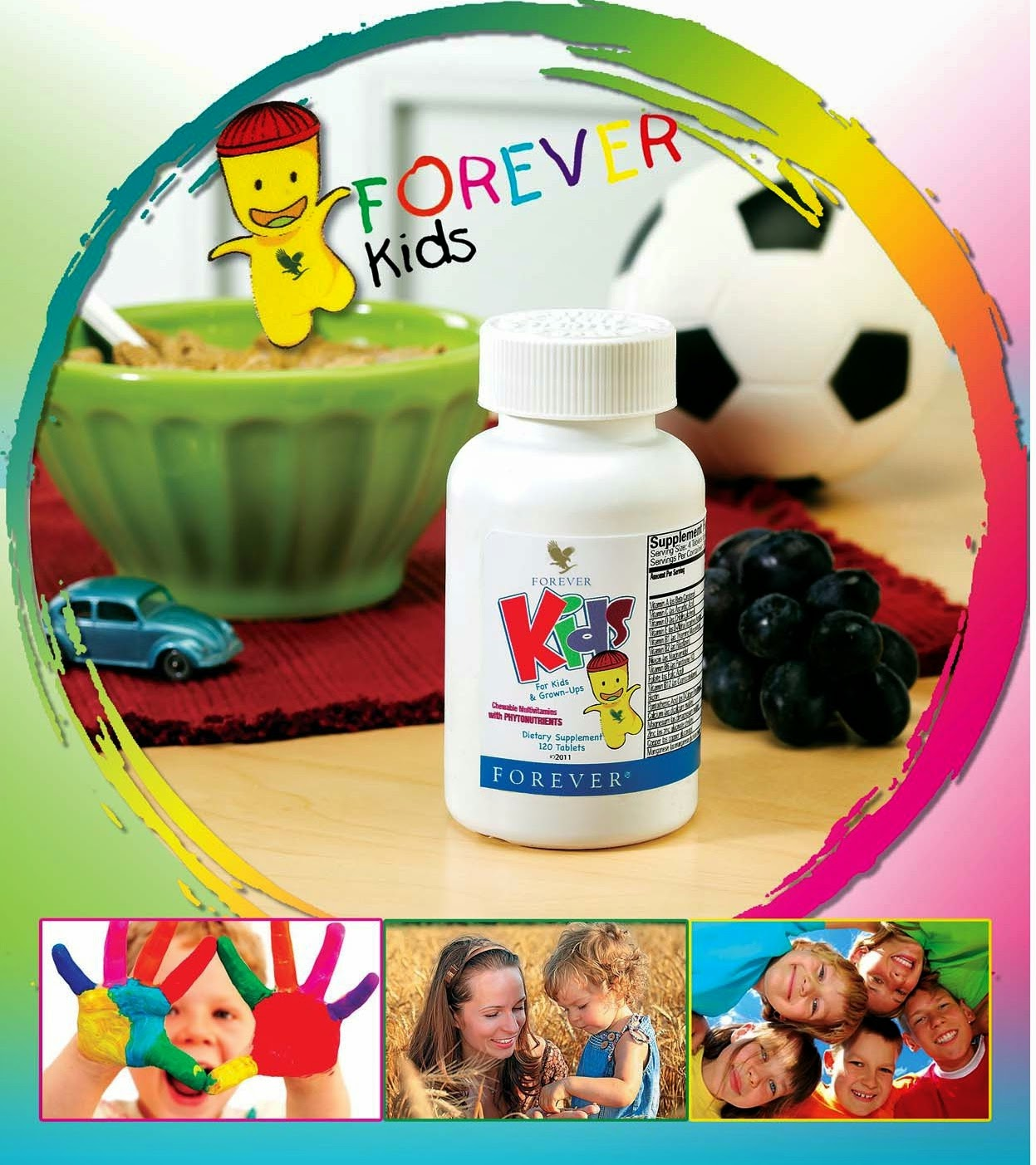 Tác dụng Thành phần Forever Kids bổ sung vitamin khoáng chất cho trẻ em Mã số: 354