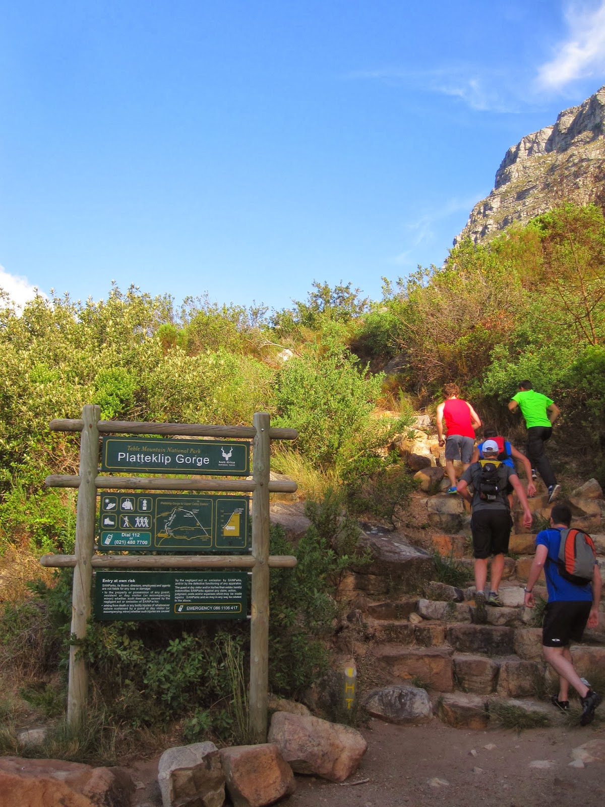 Platteklip Gorge To Nursery Ravine Trail Run Plasttekpp The Start Of