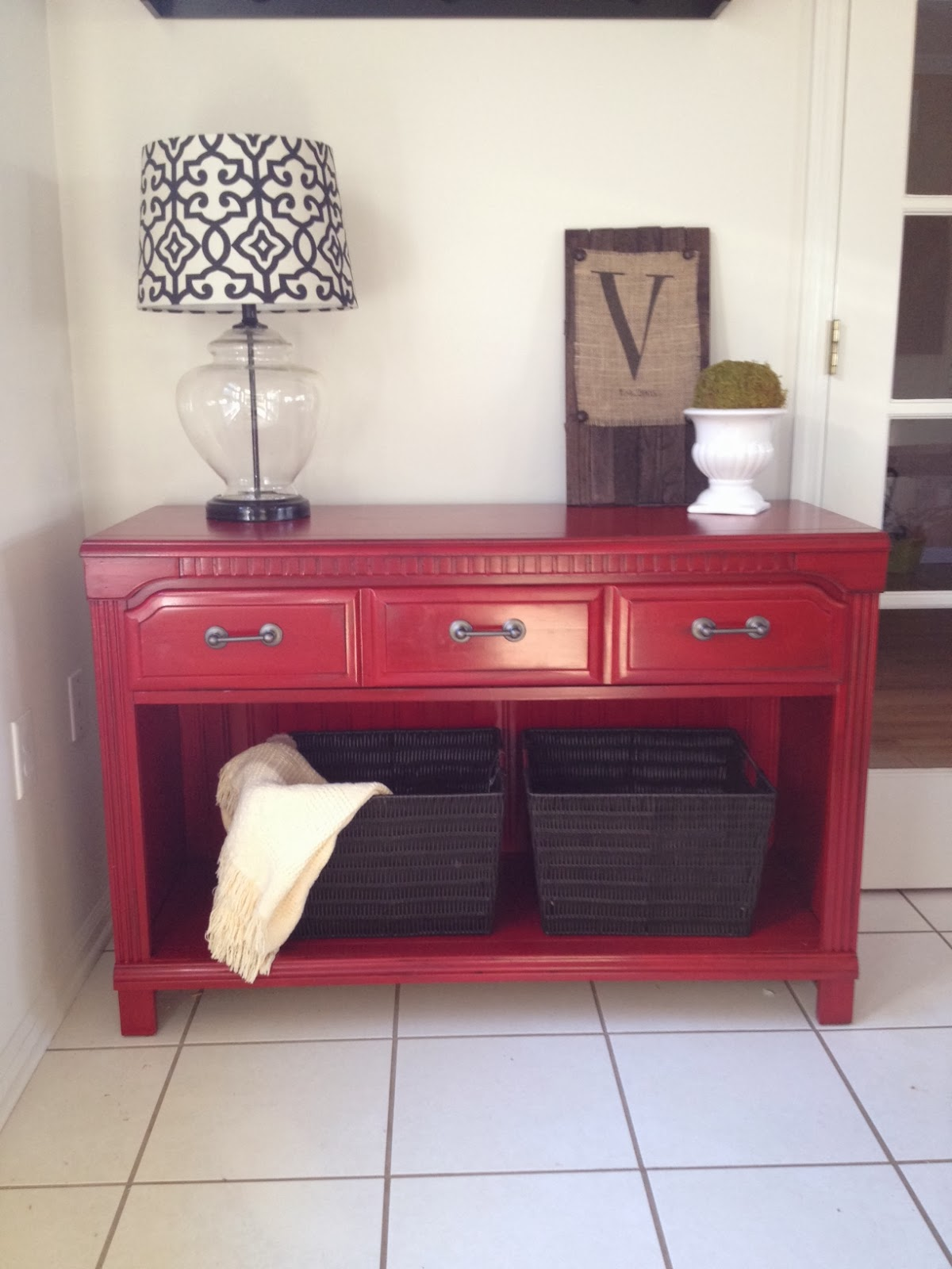 Two It Yourself Thrifted Dresser to TV StandBuffetEntryway Table