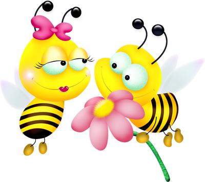Desenhos coloridos de abelhas fofas e lindas! Imagens de abelhas para ...