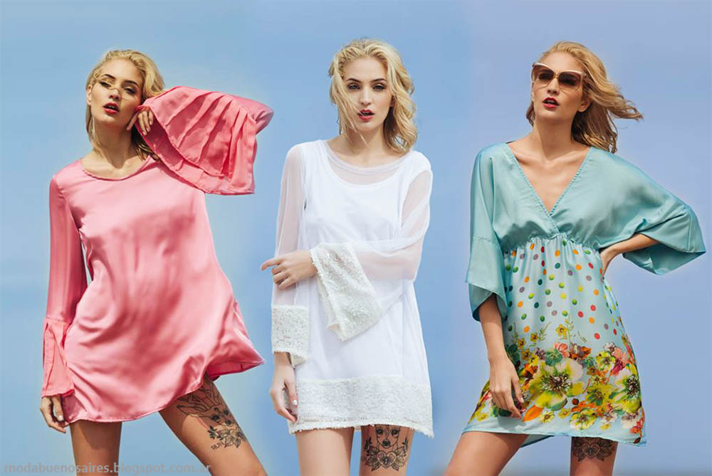 Moda 2015 vestidos de fiesta, Agogo indumentaria femenina verano 2015.