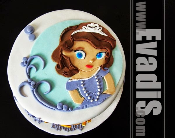 Picture of Princess Sofia The First cake top view