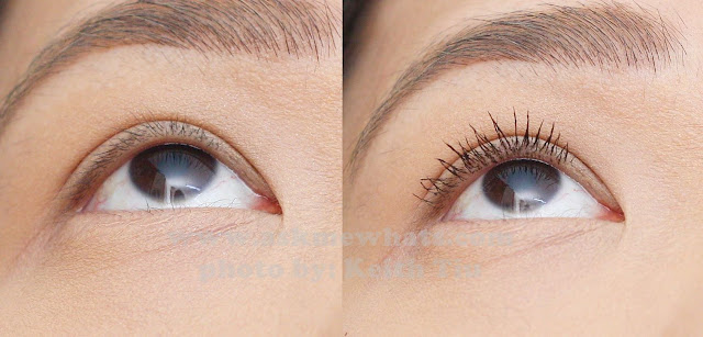 Before and after using Max Factor X Masterpiece Glamour Extensions 3-in-1 Volumising Mascara Review