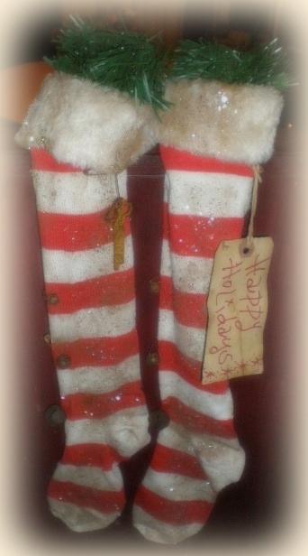 merry christmas hang tag 1 available - Primitive Christmas Stockings