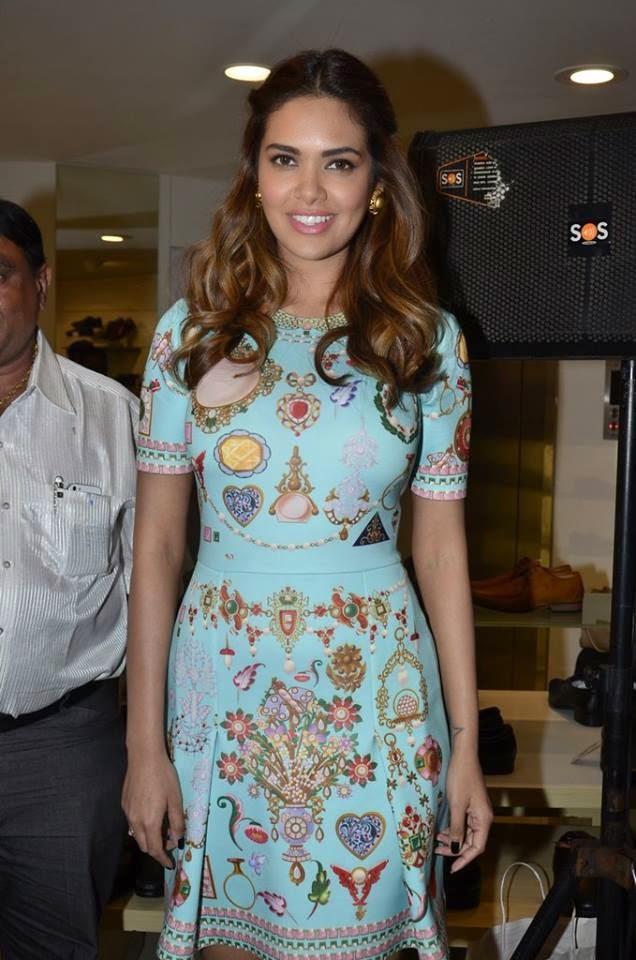 Actress Esha Gupta during the inauguration of a new Bata store in Mumbai